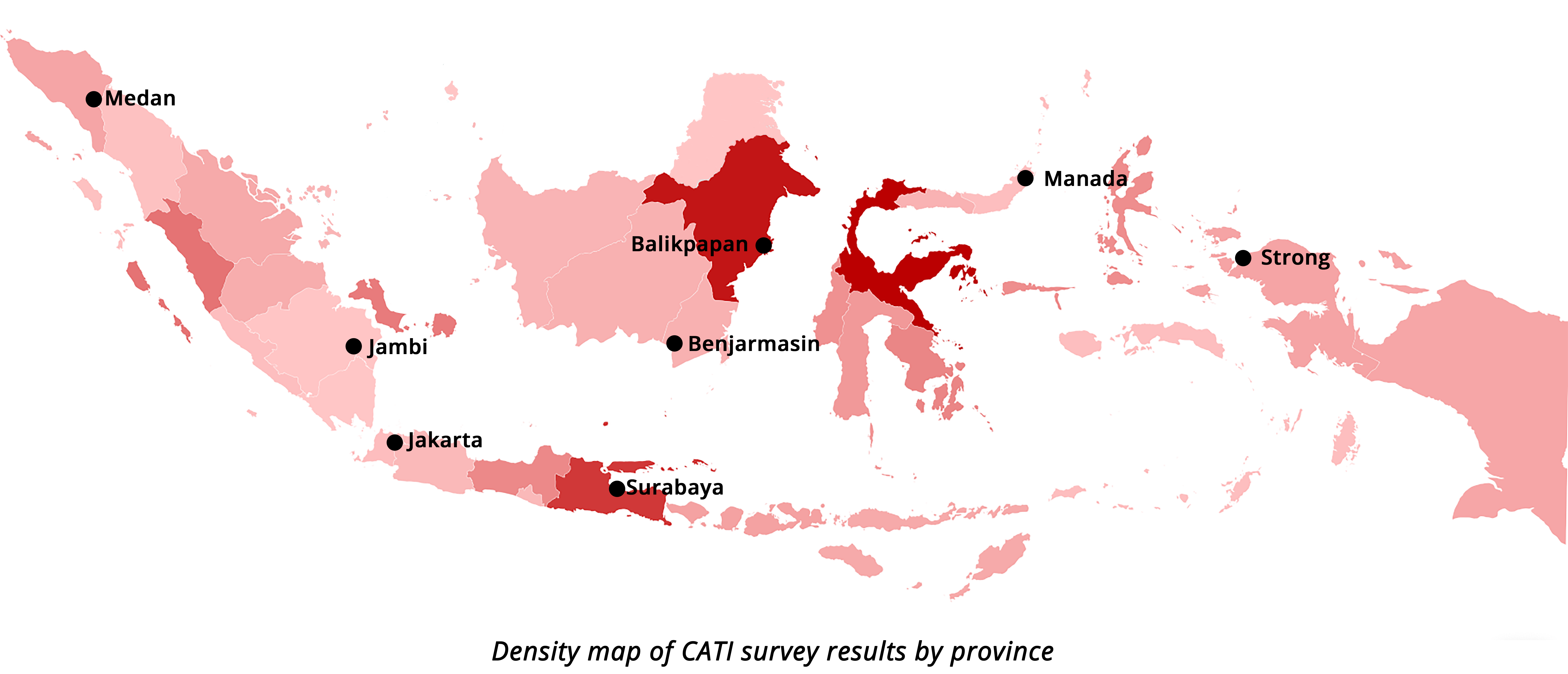 Indonesia misinformation heat map