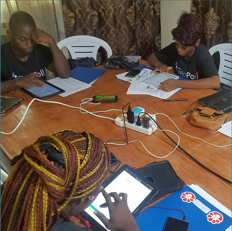 GeoPoll call center in Sahel
