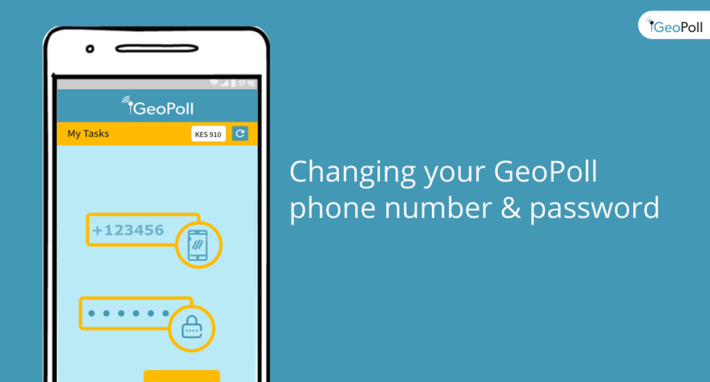 change geopoll phone number and password