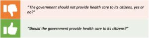 The government should not provide health care to its citizens, yes or no? Should the government provide health care to its citizens?